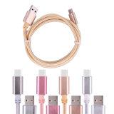 Tipo trenzado de nylon cable de datos del teléfono móvil de C