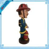Douane Bobblehead van de Brandweerman van Bobble van het Beeldje van Bobblehead van de hars de Hoofd