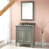 Тип шкаф белой отделкой американский ванной комнаты твердой древесины тщеты ванной комнаты
