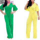 Form-Frauenreizvolles Carmen-Overall-Kleid L55322-1
