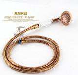 Jeu en laiton simple en céramique Bleu-et-Blanc chinois de douche de pluie du traitement Zf-612 de modèle neuf