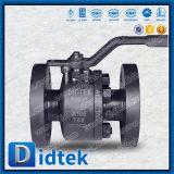 Valvola a sfera dura di galleggiamento della guarnizione dell'ente a due pezzi di spaccatura di Didtek per produzione del gas & del petrolio