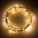 クリスマスの装飾USB LEDの銀色の銅線ストリングライト
