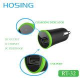 De goedkope Populairst en van de Auto USB Mobiele Telefoon die van de Lader Aanwendend 2.1A de Lader van USB in Auto laadt