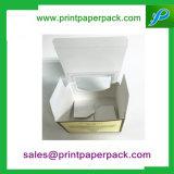 Rectángulo plegable de papel del perfume de lujo de encargo con la ventana