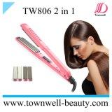 Raddrizzatore 2 dei capelli del rivestimento di ceramica della strumentazione del salone di bellezza in 1
