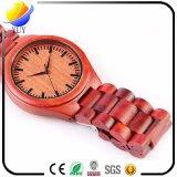 Het waterdichte Rode Houten Horloge van het Sandelhout