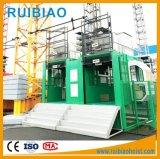 Élévateur de passager de cage de Gjj Sc100/100td de prix usine double
