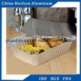 Einen beweglichen Aluminiumfolie-Behälter nehmen