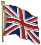 De gietende van de Britse van de Douane van het Kenteken van het Email van de Legering van het Zink Speld Revers van de Vlag