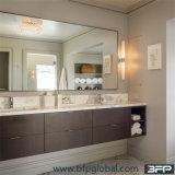 ホテルのためのWoodgrainのパネル・ドアの倍の洗面器の壁の浴室の虚栄心