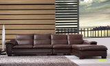 Sofá de las piernas del metal del cuero de los muebles de la sala de estar (UL-NSC017)