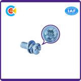 """Traversa dell'acciaio inossidabile dello zinco/vite blu della testa vaschetta del """"phillips"""" con la guarnizione/rondella"""