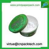 Contenitore di carta di nuovi di disegno di figura rotonda del cartone monili su ordinazione del regalo con stampa di marchio