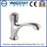 Robinet en laiton de mélangeur de bassin du chrome Yz5205 de taraud de salle de bains de cuvette mono de bassin
