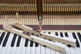 Schumannの黒いアップライトピアノA2-125の楽器