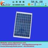 mono painel solar de 18V 15W para o sistema 12V