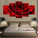 5 طبع قطعة/مجموعة أحمر حالة حبّ [روس] ملصقة صورة زيتيّة جدار فنية غرفة زخرفة يطبع نوع خيش صورة زيتيّة [مك-160]