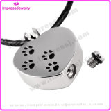 Collier d'urine pour animaux de compagnie Keepsake Memorial Ash Holder Paw Cremation Jewelry