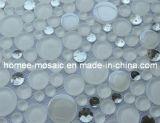 mélange rond blanc superbe de mosaïque avec la mosaïque de miroir