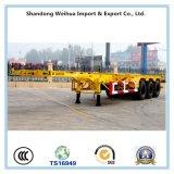 3 de Aanhangwagen van de Container van het Skelet van de as voor Vervoer van de Container