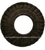 Finger preto Sisal Polishing Wheel para Stainless Steel