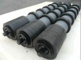 De rubber Rol van het Effect van de Transportband van het Type van Ring, Dragende Rol, de Leeglopers van Troughing van het Effect van de Nuttelozere Rol van de Trog van het Effect