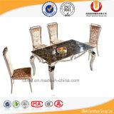 Tabela de mármore do assento da mobília 4 da sala de jantar (UL-DC339)