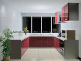 Gabinete de cozinha personalizado laca