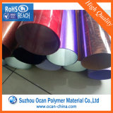 Folha rígida Sparkled laminada colorida do PVC para o envoltório do cilindro