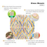 Tuile italienne de Backsplash de mosaïque en verre souillé d'art de modèle en vente