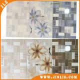 azulejo de cerámica de la pared de la flor de la inyección de tinta 3D del cuarto de baño rústico impermeable del mosaico