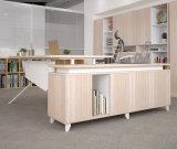 Mesa de escritório executivo de madeira da mobília de escritório com gabinete