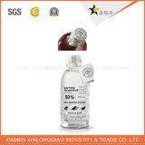 Etiqueta engomada modificada para requisitos particulares para el agua mineral, impresión de encargo de la botella de la impresión de la escritura de la etiqueta