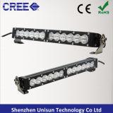 防水単一の列25inch 120Wのクリー族5W LEDのライトバー