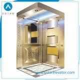 Elevatore del passeggero acquaforte dello specchio di Gloden con il sistema di azionamento dell'elevatore di Vvvf