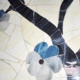 Modelo de mosaico moderno del vidrio manchado de los cuadros de los ornamentos de la pared del fondo