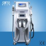 Hete Apparatuur 4 van de Schoonheid van de Verkoop in 1 opteert de Verwijdering van de Tatoegering van de Laser van Nd YAG van de Verjonging rf van de Huid van de Verwijdering van het Haar Shr