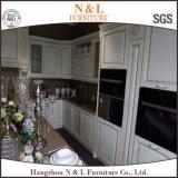 現代家具白いカラーカシの純木の食器棚