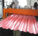 Überzogenes gewölbtes Dach-Blatt färben
