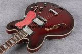 Guitare électrique de corps semi creux de l'anniversaire 1963 d'es 335