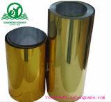 Ouro dado forma vácuo e película plástica metálica de prata do PVC para bandejas