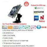 """Sistema de navegação portátil de barato 4.3 """" Sat Nav GPS com tevê Bluetooth de ISDB-T Avoirdupois-no navegador do GPS do caminhão de Moto do carro para a câmera do estacionamento da vista traseira, câmera da velocidade"""