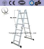 De brede Ladder van het Aluminium van Verscheidenheden met 4*3 Stappen