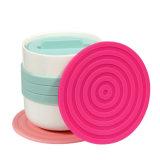 Silicone Placemat/silicone antisdrucciolevole Placemat/stuoia di categoria alimentare del Cornflower di figura rotonda di Colorflu del silicone