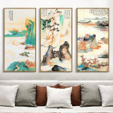 Изображение искусствоа стены картины холстины масла ландшафта 3 панелей для дома, офиса, украшения гостиницы