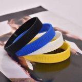 Il Wristband impresso del silicone di marchio per gli eventi gradice la concorrenza di sport