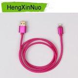 Cable más nuevo vendedor caliente para la carga de nylon colorida de los datos de la sinc. del enchufe del cable y del metal del iPhone