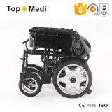 Cadeiras de rodas elétricas da dobradura básica econômica de Topmedi com espaldar Foldable