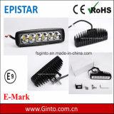 Heißer Verkauf 18W Epistar LED Arbeitslicht-Stab für Traktor / LKW / Offroad / 4X4 Fahrzeug